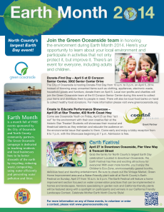 North County Earth Month Flyer