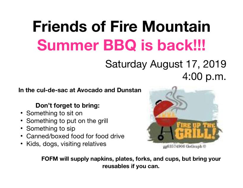 Fire Mountain bbq invite